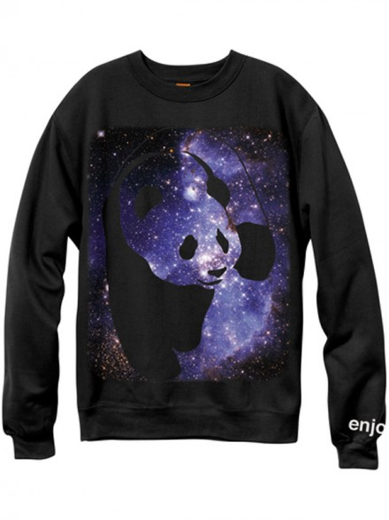 Sudadera Enjoi Cosmos Panda Crew Blk