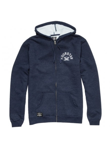Sudadera Fourstar Arch Zip Royal Blue
