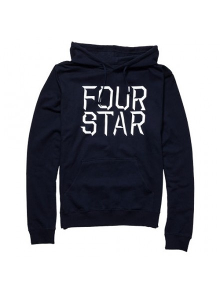 Sudadera Fourstar Stacked Type Navy S