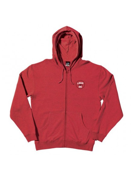 Sudadera Lakai Lakai Or Die Zip Red/Htr