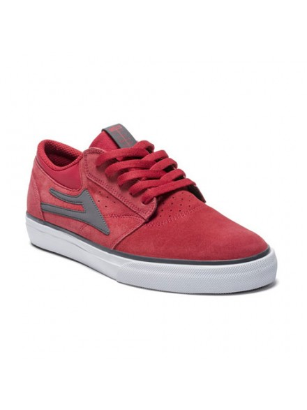 Tenis Skate Lakai Griffin Red Grey Suede
