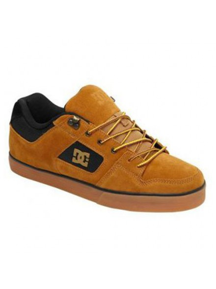 Tenis Skate Dc Pure Slim Wr Wheat/Black
