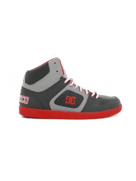 Tenis Skate Dc Union High Grey Red