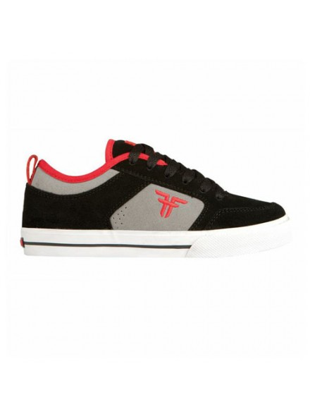 Tenis Skate Fallen Clipper Se Black/Cement/Blood Red 10