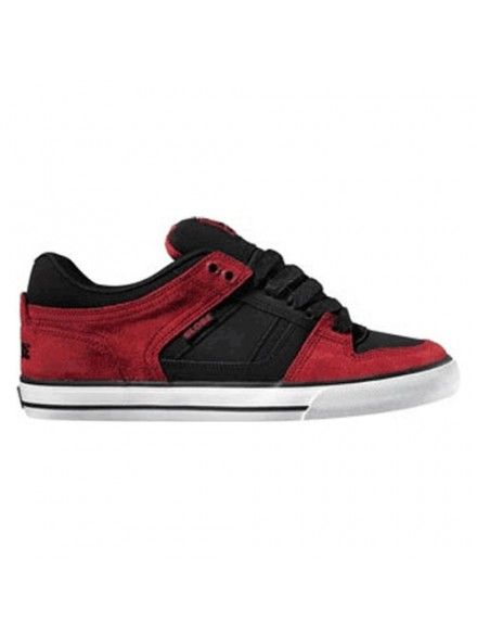 Tenis Skate Globe Rage Kids Red Black