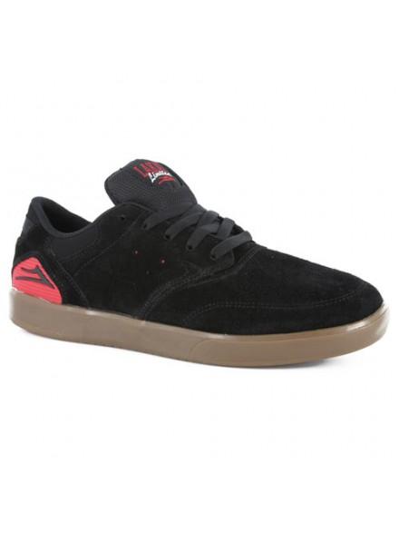 Tenis Skate Lakai Guy Anchor Black Red Suede