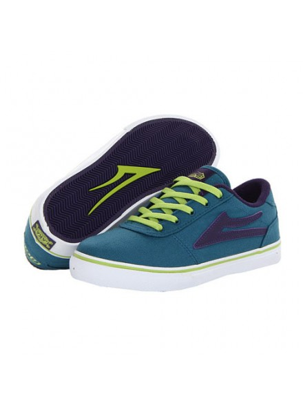 Tenis Skate Lakai Kids Manchester Ink Blue Canvas 2
