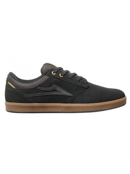 Tenis Skate Lakai Linden Black/Gum Suede 10.5