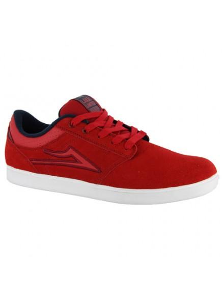 Tenis Skate Lakai Linden Red Suede 7