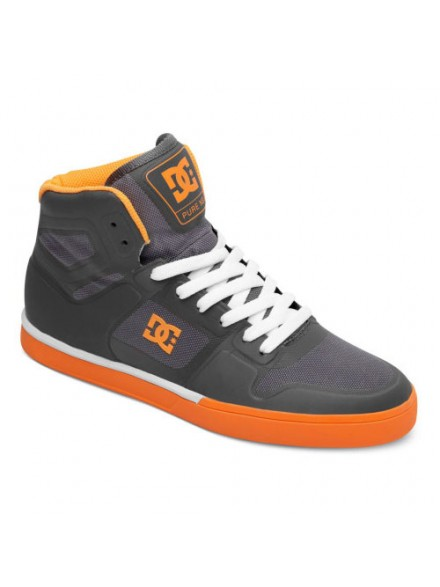 Tenis Skate Dc Pure Ns Hi White Wild Dove Orange