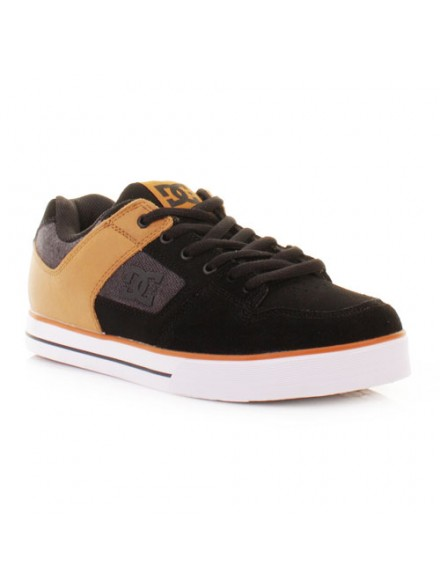 Tenis Skate Dc Pure Slime Xe Brown Black 9
