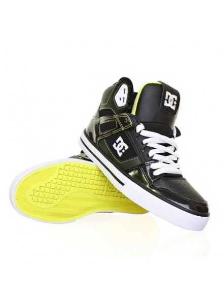 Tenis Skate Dc Spartan High Wc Blk/Wht/Yellow