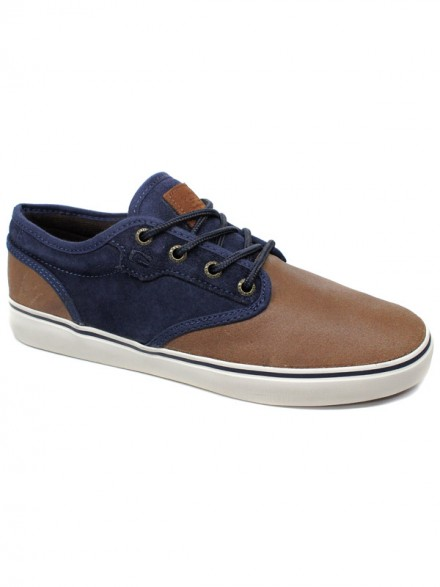 Tenis Globe Motley Distressed Brown Navy