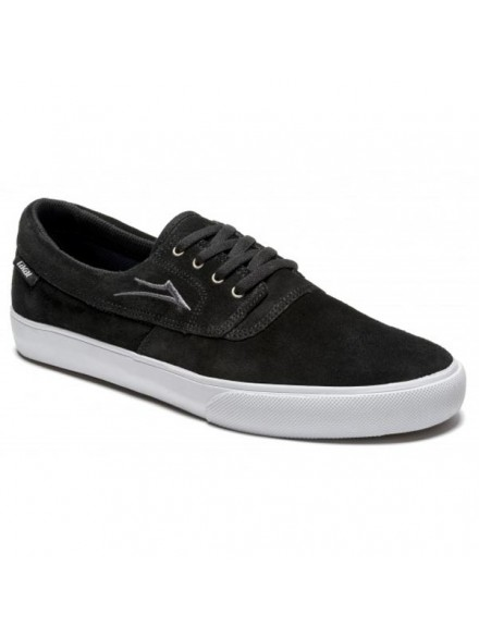 Tenis Skate Lakai Camby Blk Wht Suede