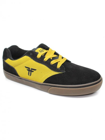 Tenis Skate Fallen Slash Black Dark Yellow