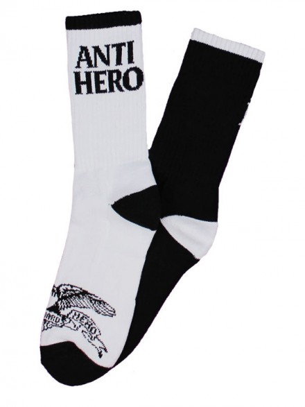 Calcetas Antihero Black Eagle Black White