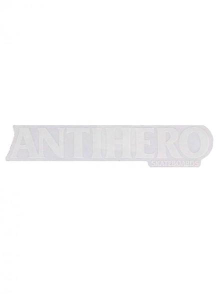 Calcomanía Antihero Long Blackhero Blanco 22X4.5cm