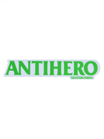 Calcomanía Antihero Long Blackhero Verde 22X4.5cm