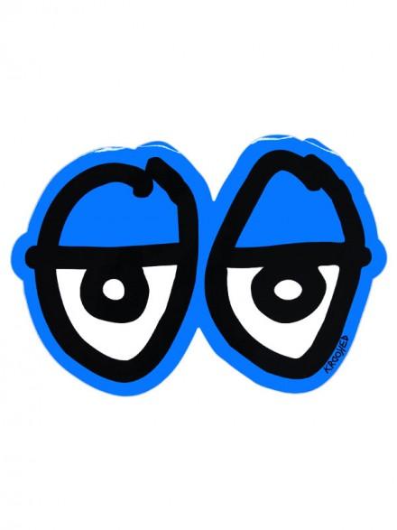 Calcomanía Krooked Eyes Die Cut Blue 28X19.5cm