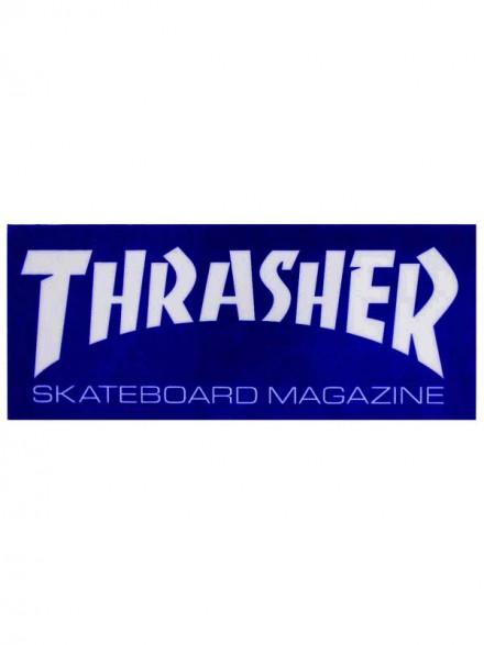 Calcomanía Thrasher Skate Mag Royal White 15x6.5cm