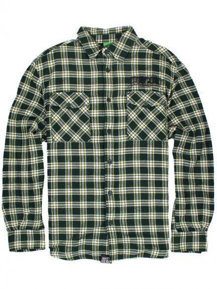 Camisa Anti Hero Oakland Flannel L/S Green