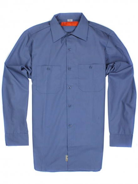 Camisa Independent No Bs Button L/S Top Blue