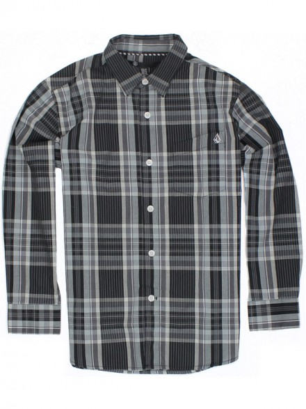 Camisa Volcom X Factor Plaid L/S Youth Blc Medium