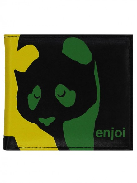 Cartera Enjoi Panda Black Rasta