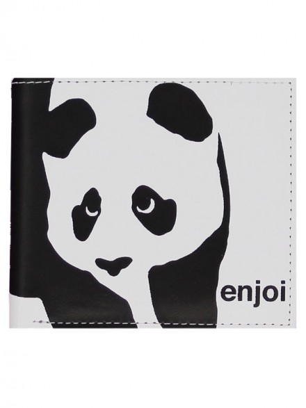 Cartera Enjoi Panda White Black