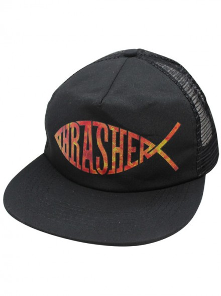 Gorra Thrasher Fish Mesh Black