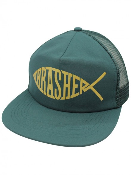 Gorra Thrasher Fish Mesh Green