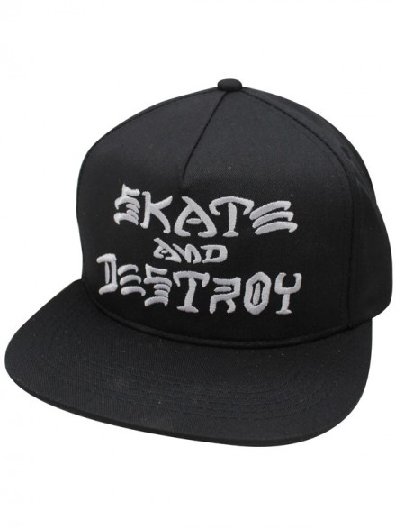 Gorra Thrasher Skate And Destroy Black