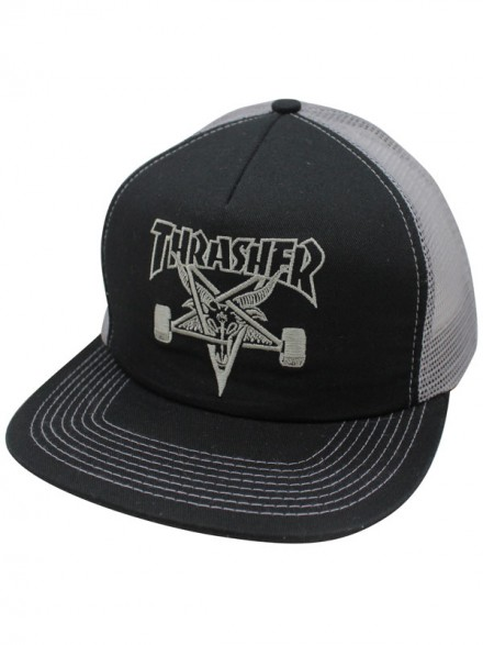 Gorra Thrasher Skategoat Embroidered Mesh Black Grey