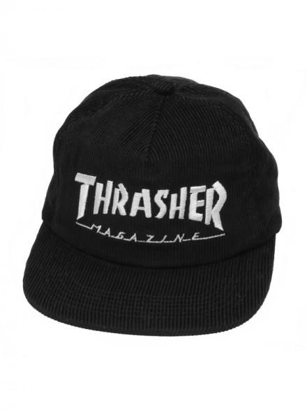 Gorra Thrasher Magazine Logo Corduroy Black