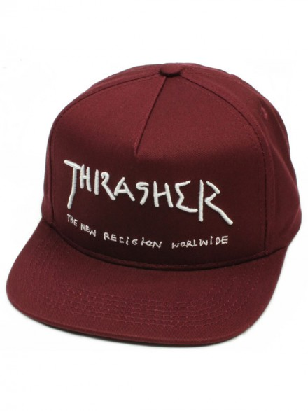 Gorra Thrasher New Religion Maroon