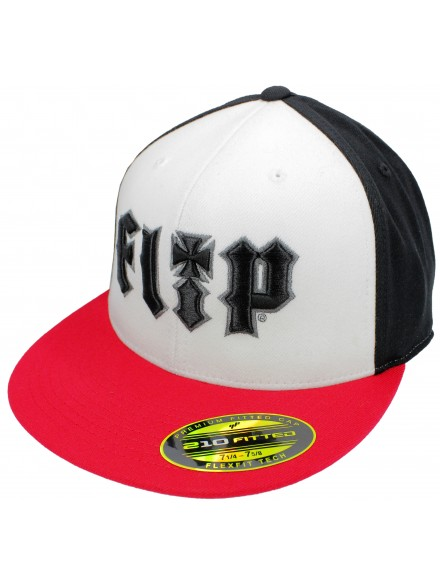 Gorra Flip Hkd 3d Flex Fit Stretch Wht/Blk/Red