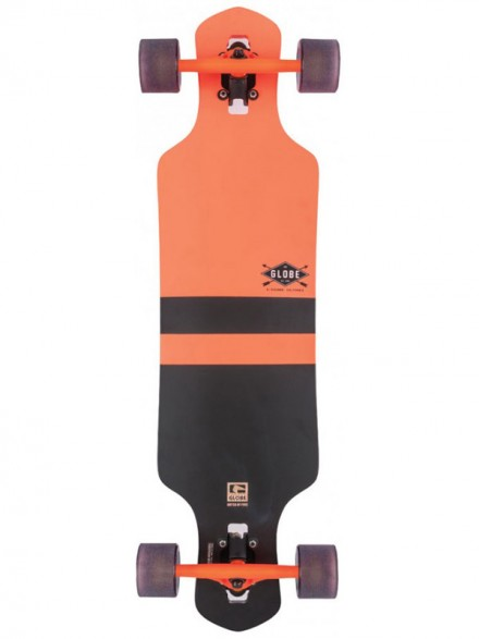Longboard Globe Geminon Fluoro Orange/Blk 35