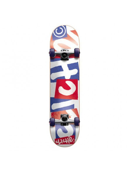 Patineta Completa Cliché Chopped Red Wht Blu 7.9