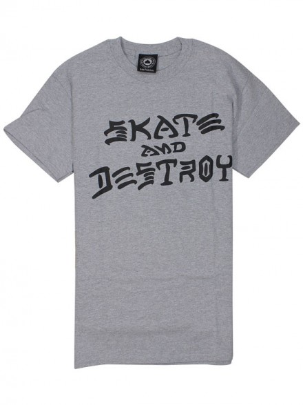 Playera Thrasher Skate & Destroy Grey