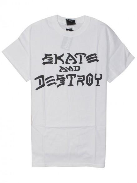 Playera Thrasher Skate And Destroy White