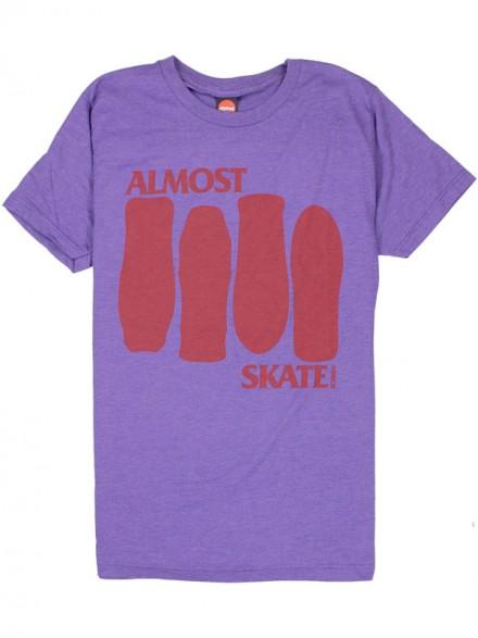 Playera Almost Skate Flag Purple Htr S