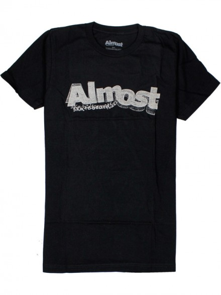 Playera Almost Stamped Logo Blk