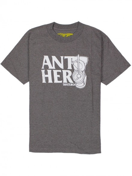 Playera Antihero Toilet Hero Brn Htr