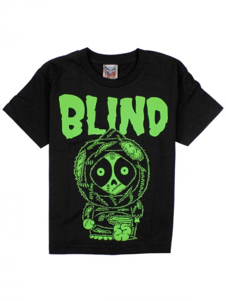 Playera Blind Zombie Youth Blk Green