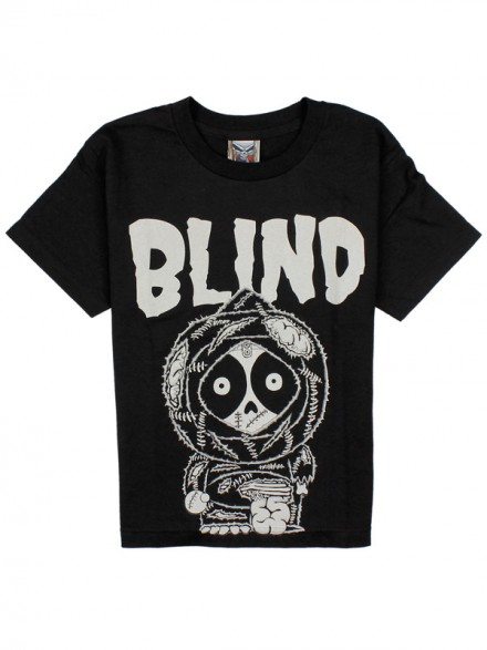 Playera Blind Zombie Youth Blk/White S
