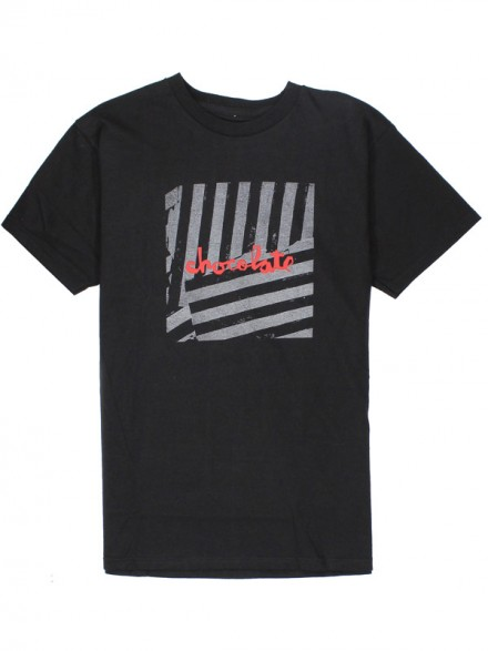 Playera Chocolate Chunk Stripe S/S Black
