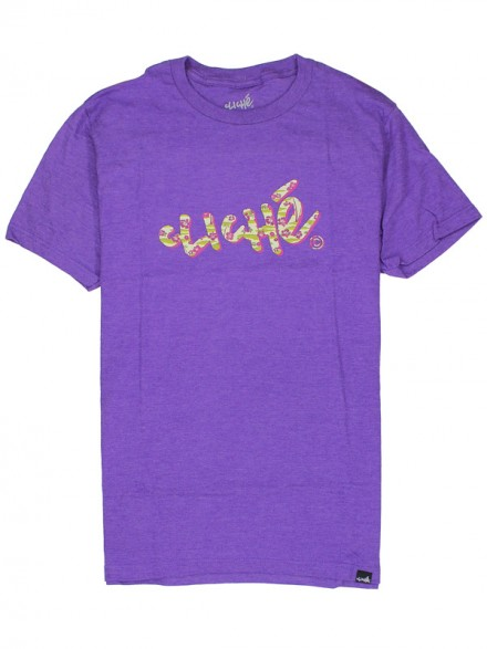 Playera Cliché Handwritten Aloha Purple Haze Htr