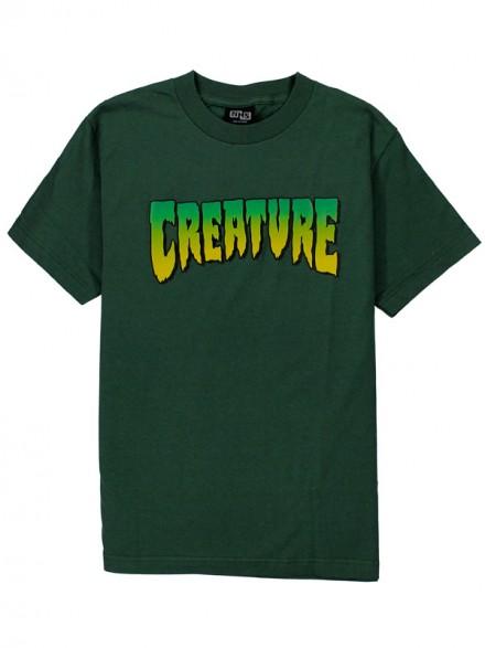 Playera Creature Creature Logo Regular Hunter Green S