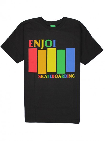 Playera Enjoi Blk Rainbow Blk