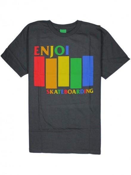 Playera Enjoi Blk Rainbow Char